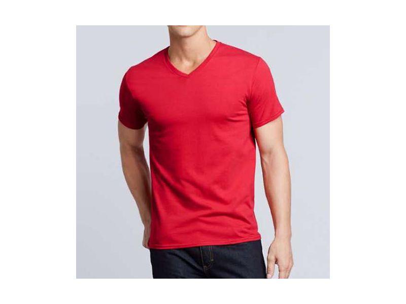 Gildan Premium Cotton férfi v-nyakú pamut póló