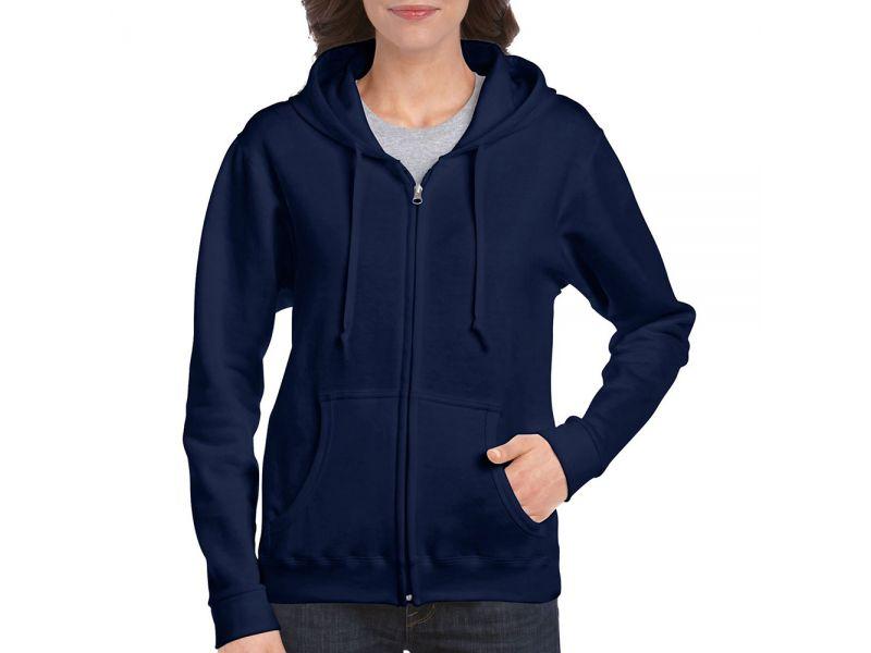 Gildan Heavy Blend női cipzáras kapucnis pulóver