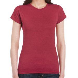 Gildan SoftStyle női kerek nyakú pamut póló