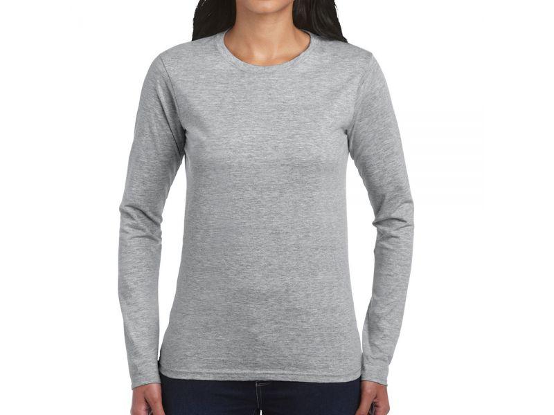Gildan SoftStyle női hosszú ujjú pamut póló