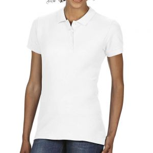 Gildan SoftStyle női dupla piké pamut póló