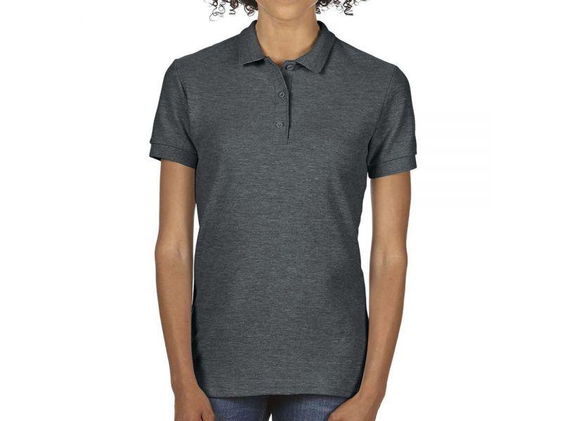 Gildan Premium Cotton női dupla pikó pamut póló