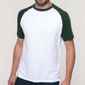 Kariban K330 Baseball kontrasztos férfi kerek nyakú pamut póló