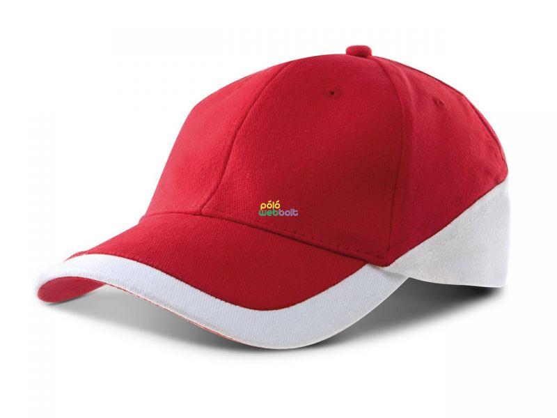 KP045 - RACING - BI-COLOUR 6 PANEL CAP