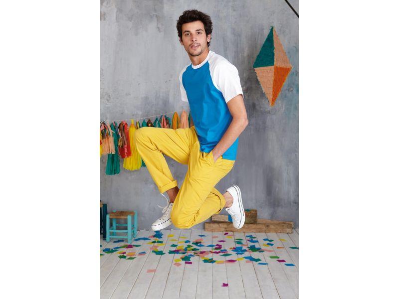 KA330 - BASE BALL - KONTRASZTOS KEREK NYAKÚ PÓLÓ - Férfi pólók ... 4903ae99e8