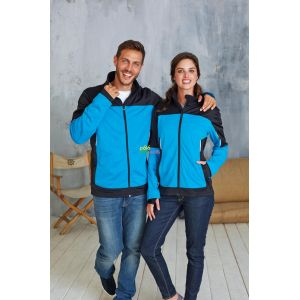 KA416 - LADIES' BICOLOR SOFTSHELL JACKET