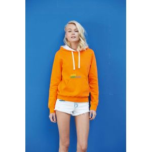 KA465 - LADIES' CONTRAST HOODED SWEATSHIRT