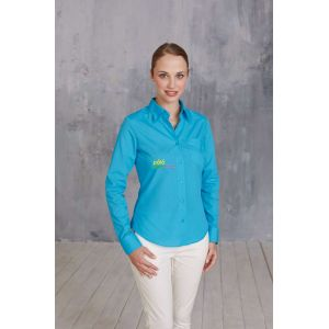 KA549 - JESSICA - LADIES' LONG SLEEVE EASY CARE POLYCOTTON POPLIN SHIRT