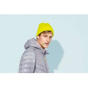SO01664 - PITTSBURGH SOLID-COLOUR BEANIE WITH CUFFED DESIGN