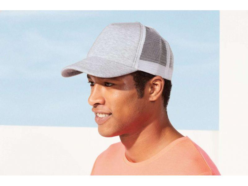 SO01688 - DODGE 5-PANEL HEATHER MESH CAP
